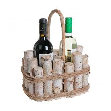 Luvcan imports Birch Branch Wine Basket